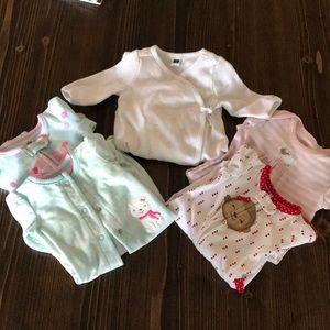 Baby Girl Newborn - 3 month Sleepers